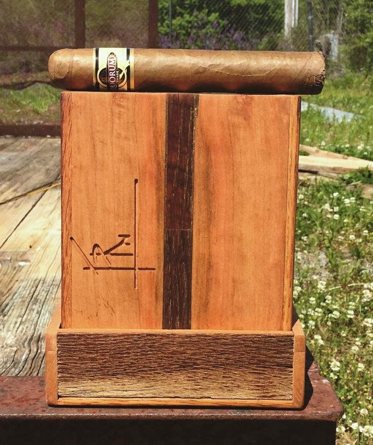 Photo of Reclaimed Oak And Cherry Travel Cigar Box