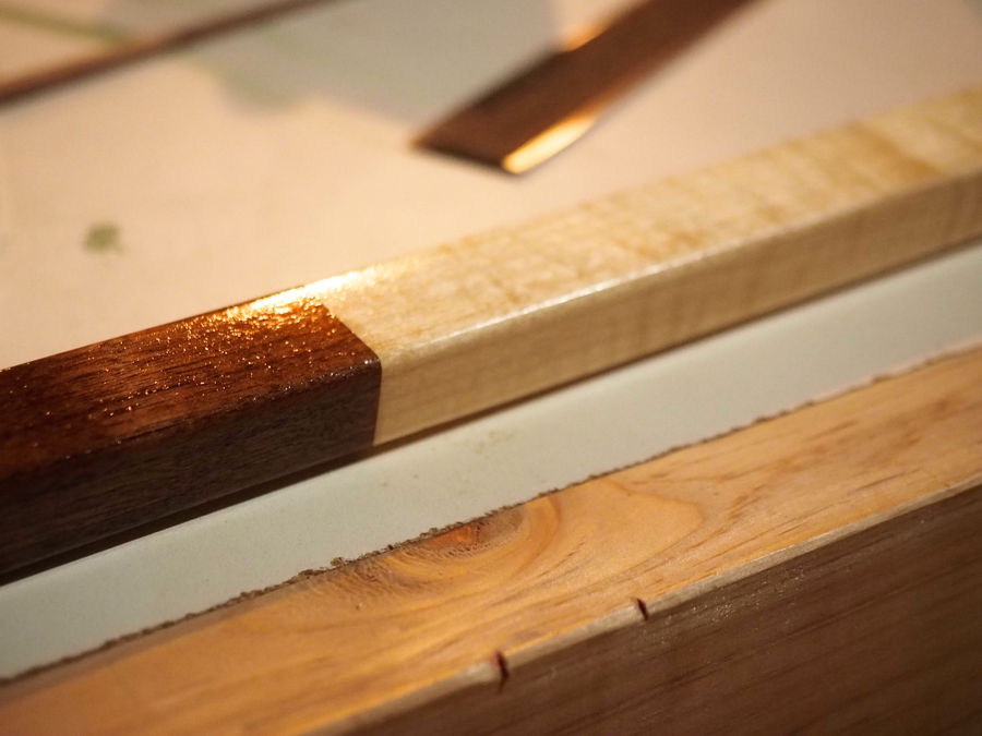 Photo of Curly Maple And Walnut Hockey Trophy
