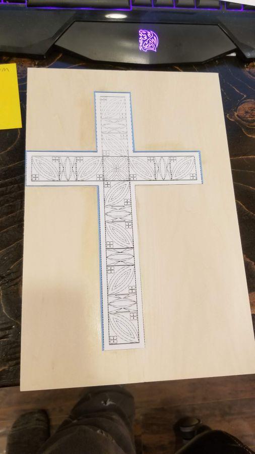 Photo of Chip Carved Cross (Original Design)