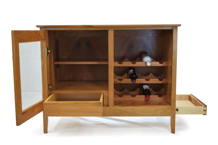 Photo of Cherry Liquor Cabinet
