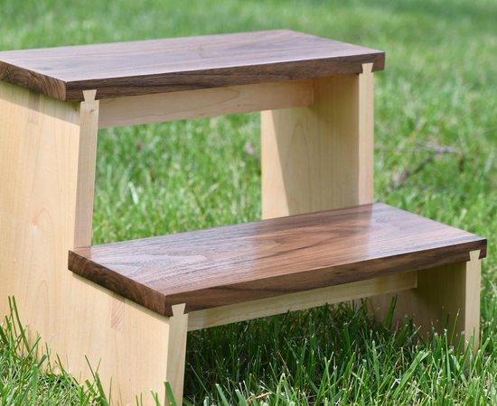 Sliding dovetail step stool
