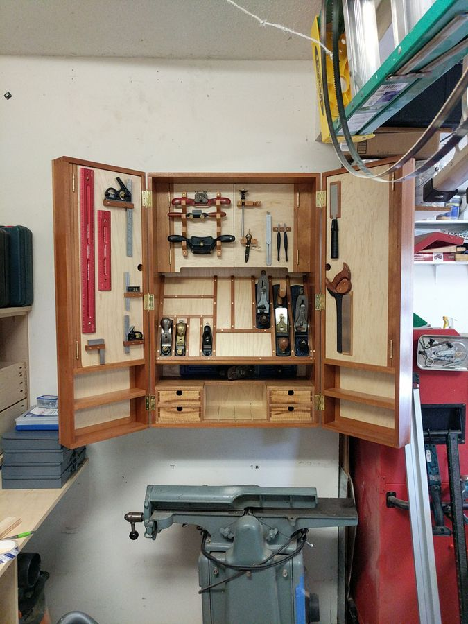 Photo of Mahogany Hand Tool Cabinet