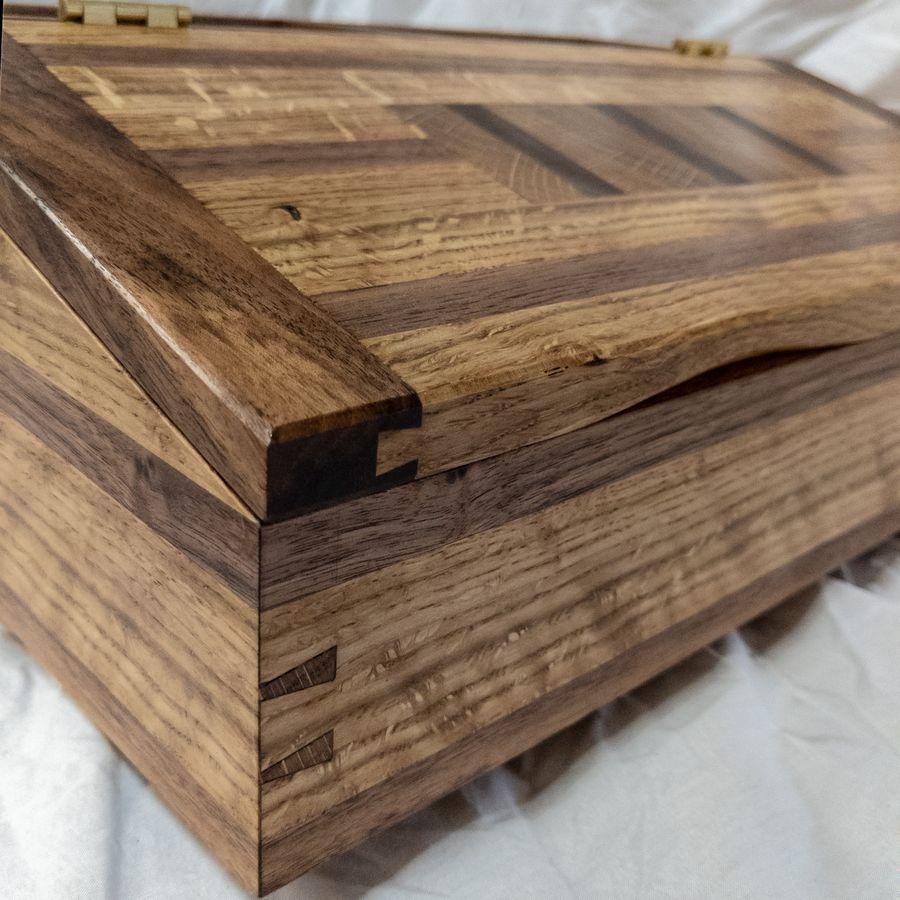 Photo of White Oak And Walnut Desk Box