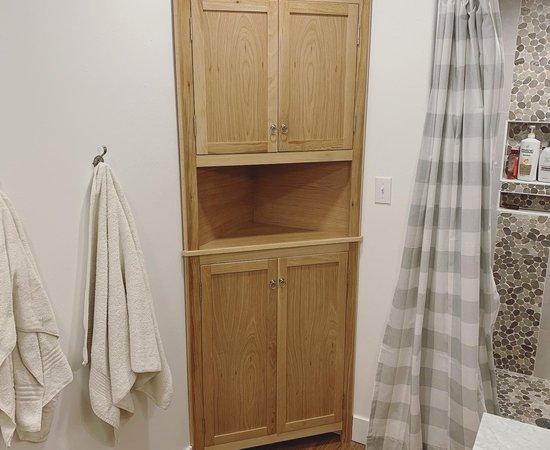 White Oak Corner Cabinet