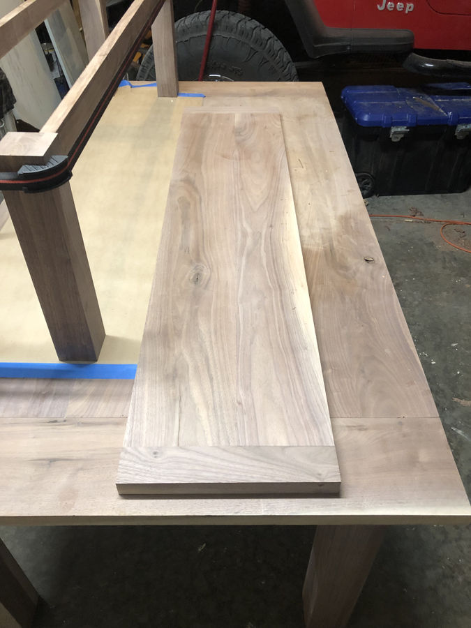 Photo of Walnut table and Bench