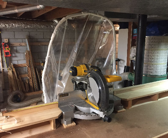 Miter Saw Removable Dust Collection Hood By Patmfitz