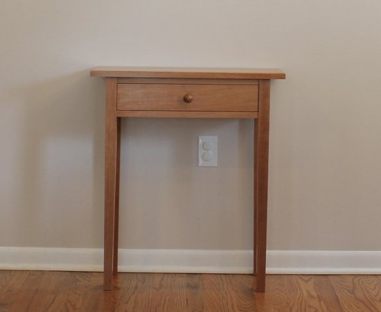 Shaker entryway table