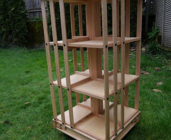 Greene And Greene Inspired Rotating Bookcase
