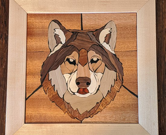 Marquetry Wolf