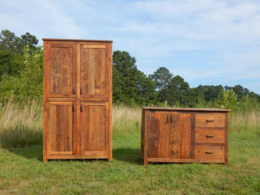 Photo of Reclaimed Wood Linen Cabinet