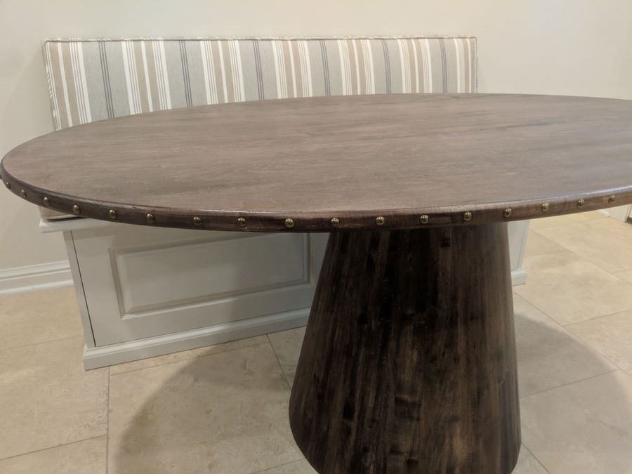 Photo of Coopered Maple Kitchen Table