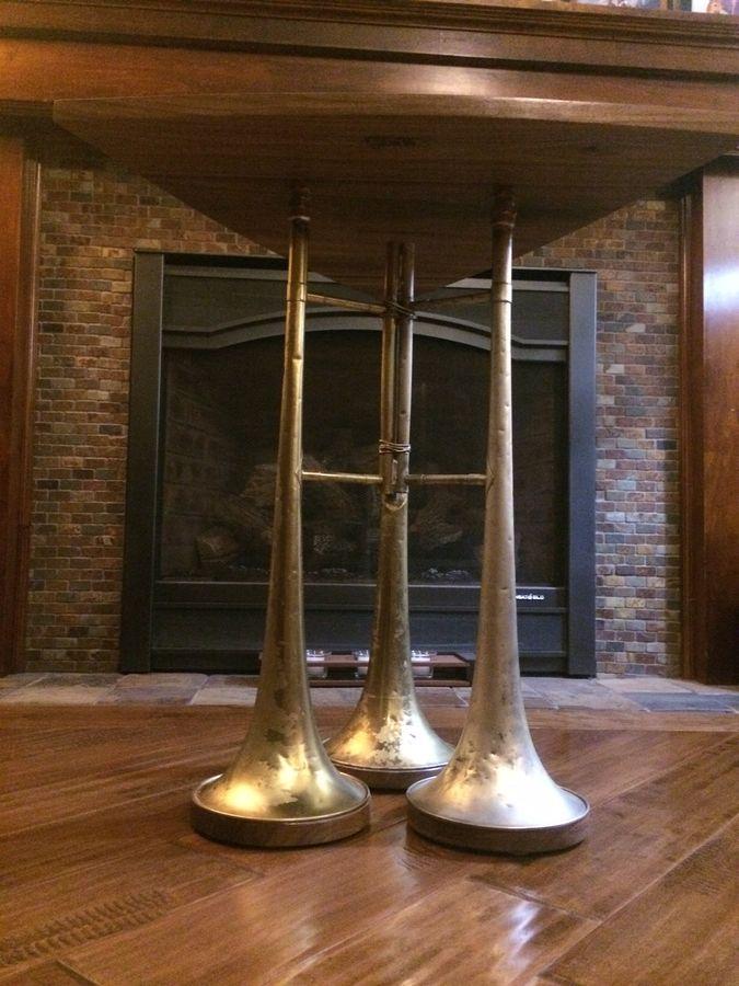 Photo of Walnut/Brass Trombone Table