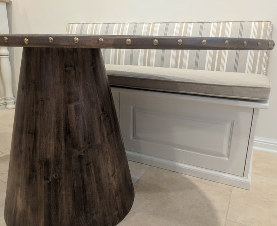 Coopered Maple Kitchen Table