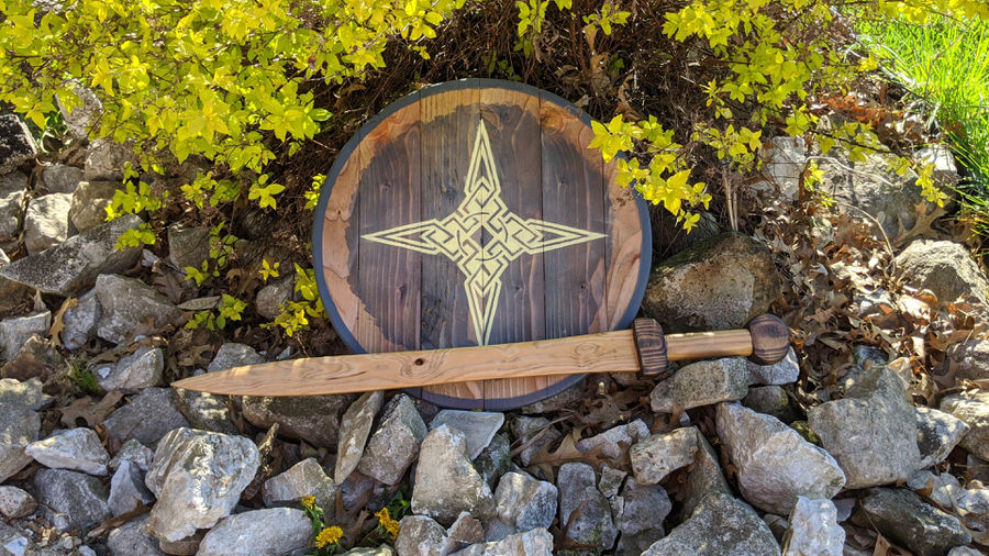"""Photo of Sword and Shield (2""""x4""""x8' Challenge)"""