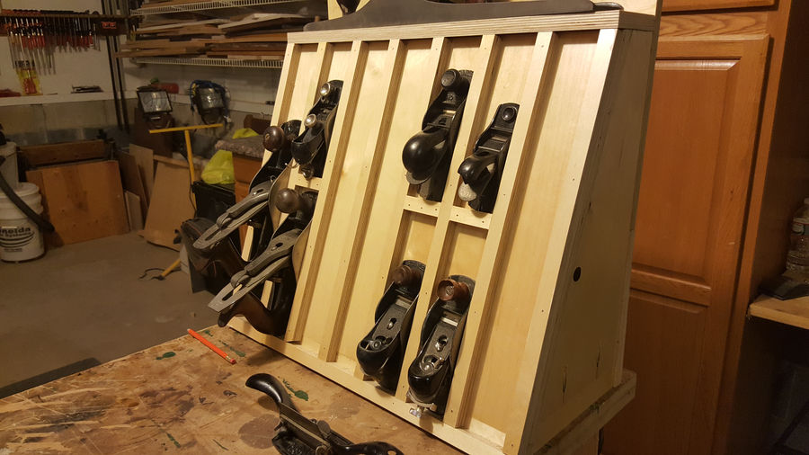 Photo of Baltic Birch Hanging Plane Rack