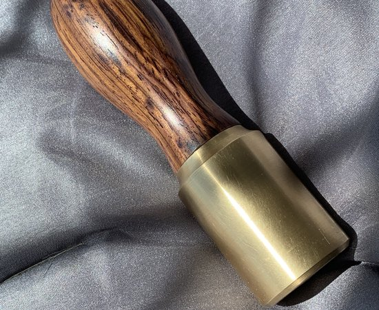 Brass and cocobolo mallet