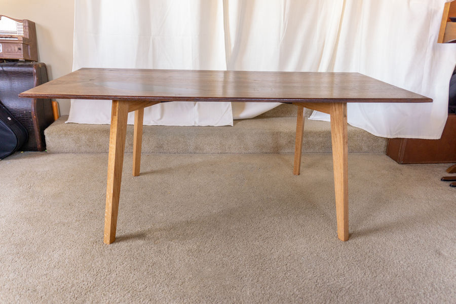 Photo of Mid-Century Coffee Table, Walnut and Red Oak