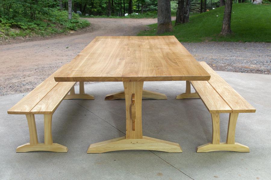 Photo of Elm Trestle Table