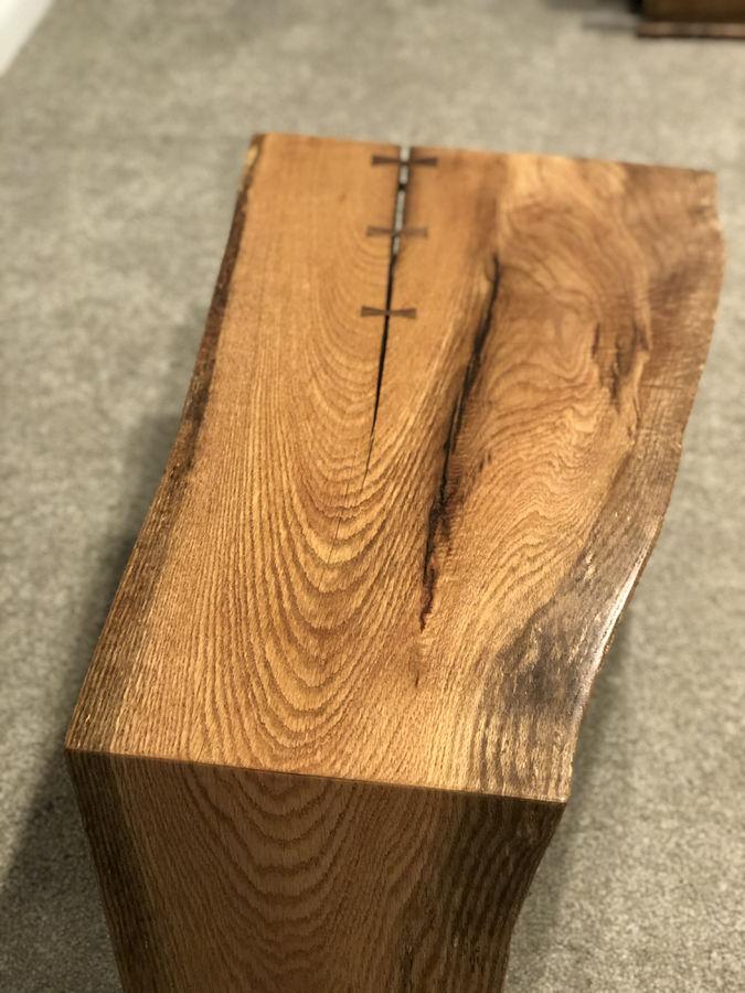 Photo of Live edge slab Waterfall coffee table