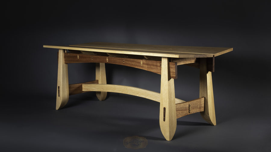 Photo of Arts and crafts inspired Bench