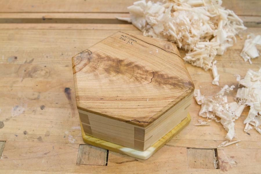 Photo of Hexagonal Dovetailed Box