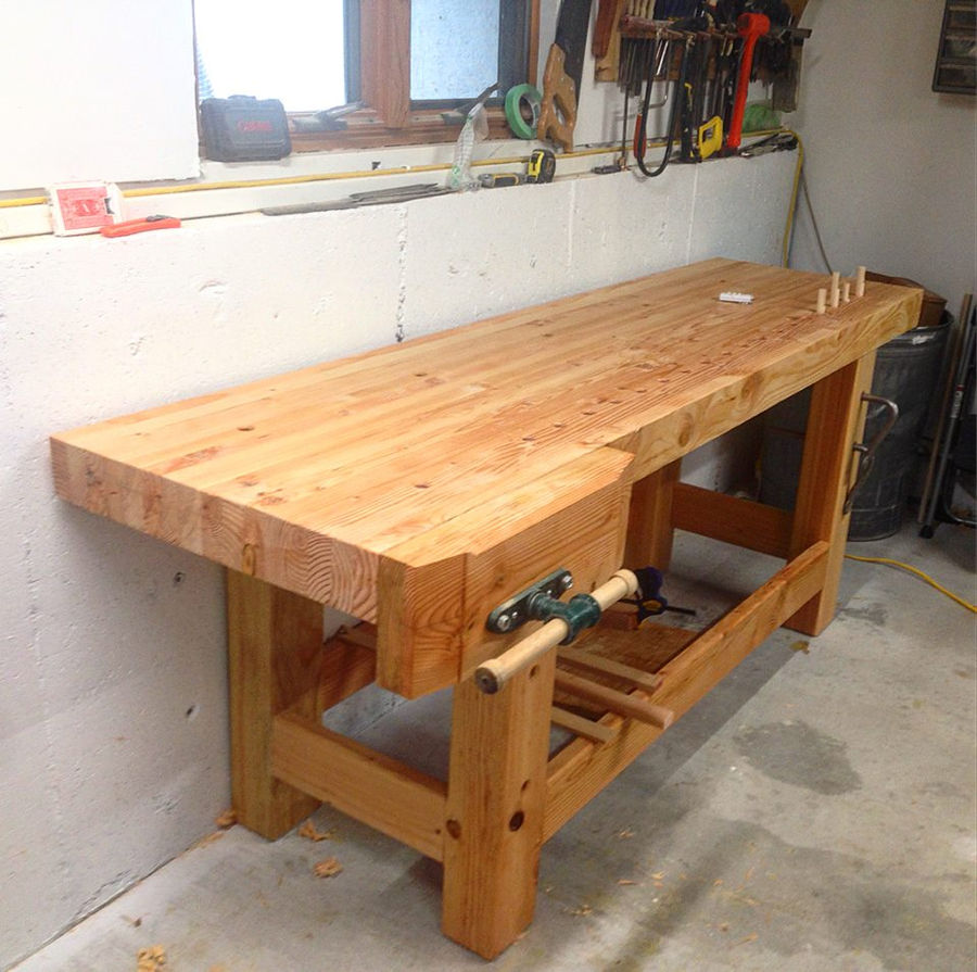 Charming Holtzapffel Bench Part - 6: Here Is The Finished Bench, Including My Vise And Chop Installed. The Bench  Was Finished With Two Coats Of Danish Oil And A Coat Of Wax.