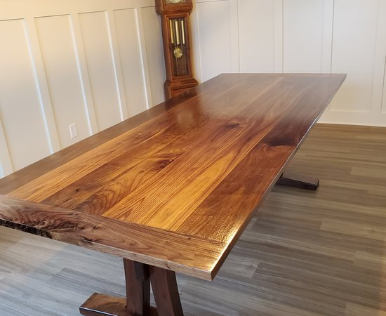Black Walnut 8+ person dining table