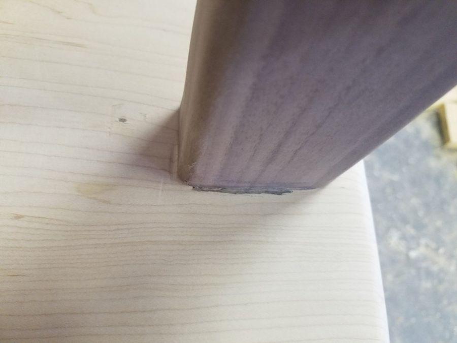 Photo of Walnut And Maple Stool