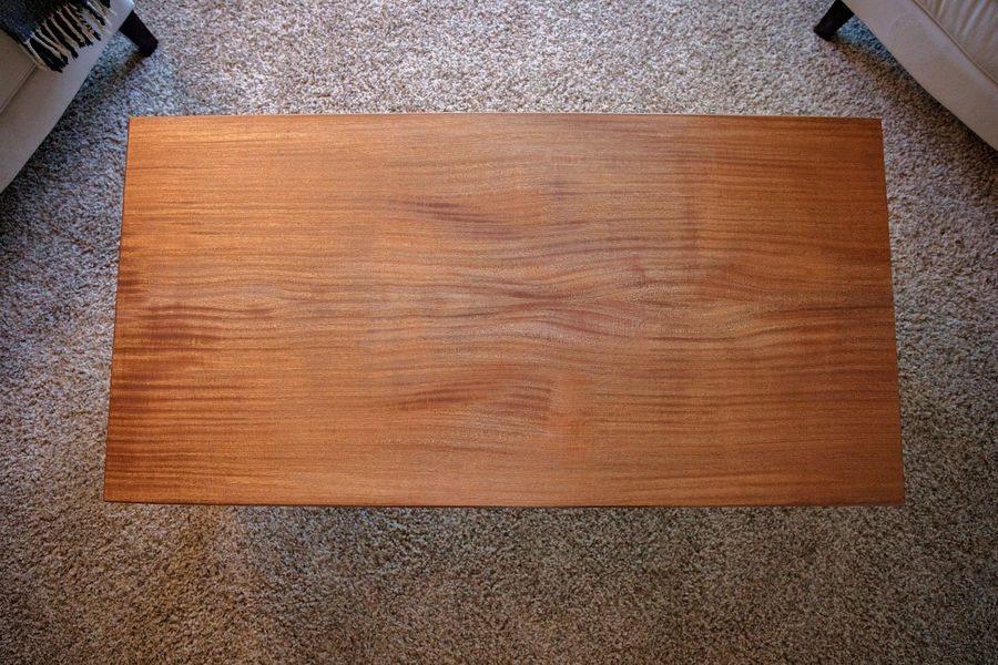 Photo of Bookmatched Sapele Coffee Table