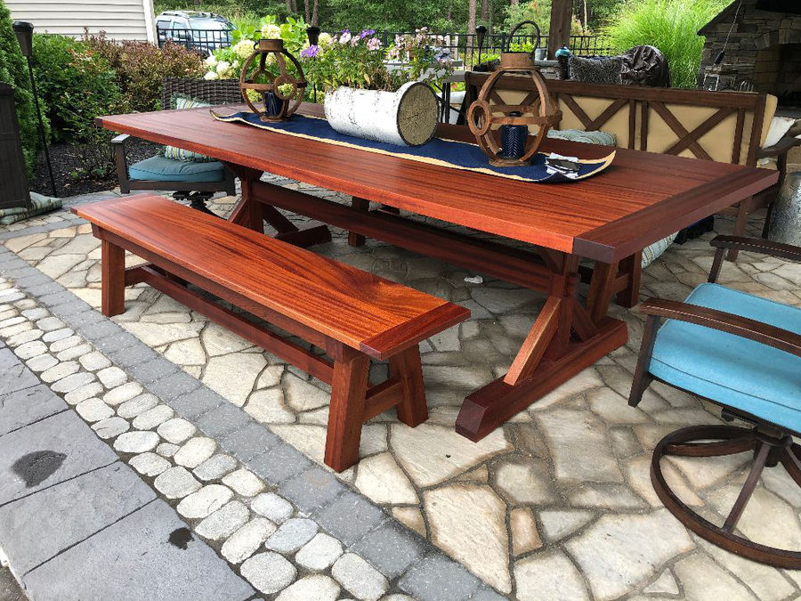 Photo of Backyard Dining Table & Benches