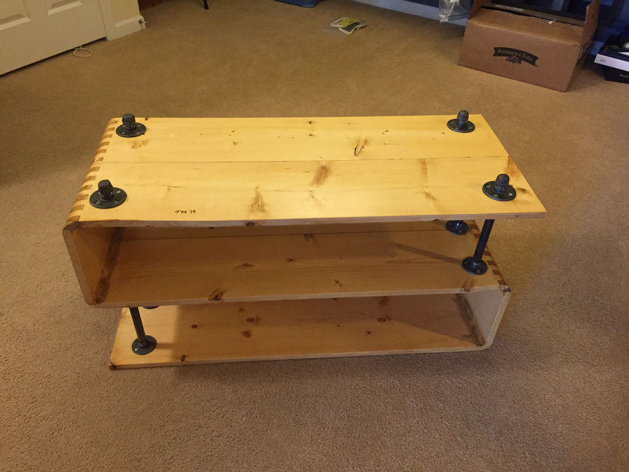 Photo of First Woodworking Project Ever! Entertainment Stand