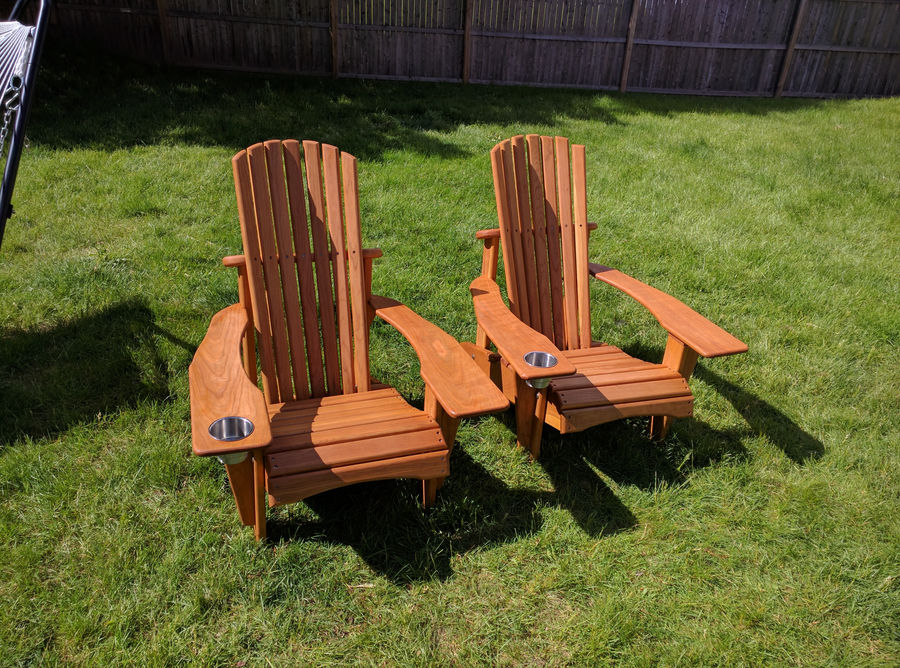 Photo of Cherry Adirondack Chairs