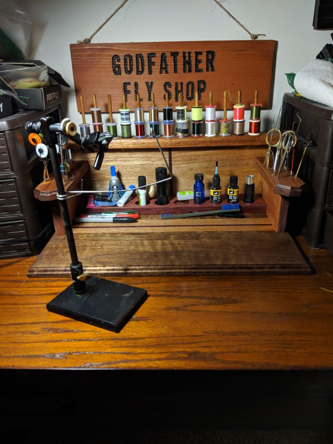 Photo of Fly Tying Station
