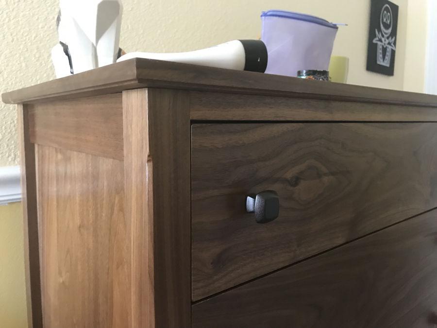 Photo of Catherine's walnut dresser