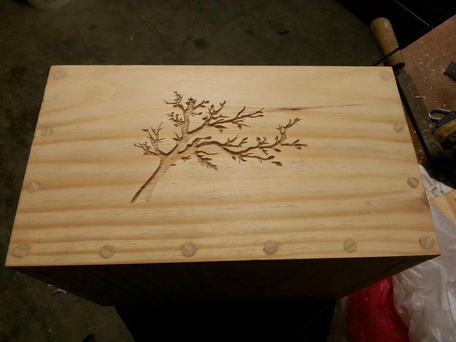 Photo of Tree Silhouette Box