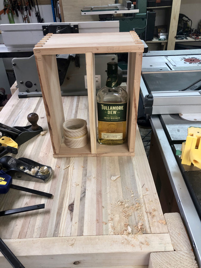 Photo of 2X4 Whiskey Cabinet