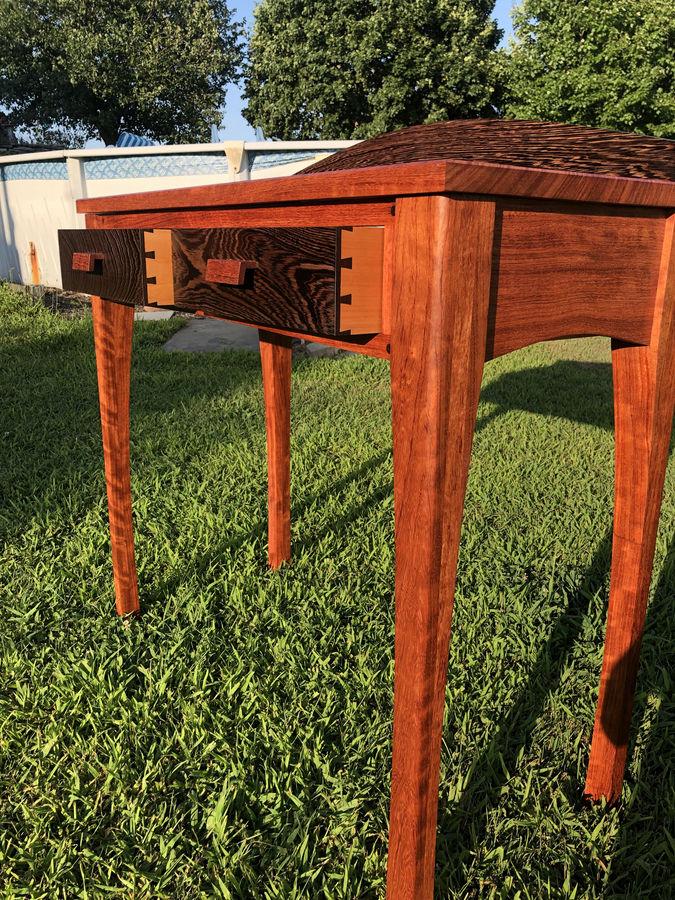 Photo of Wenge and Bubinga hall table