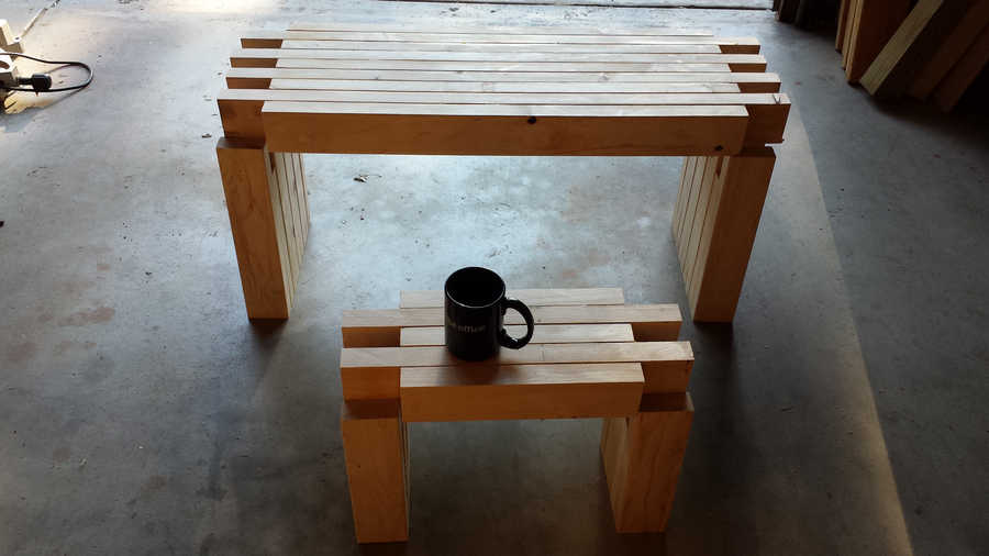 Photo of 2x Modernish Seating Bench And Mini Bench