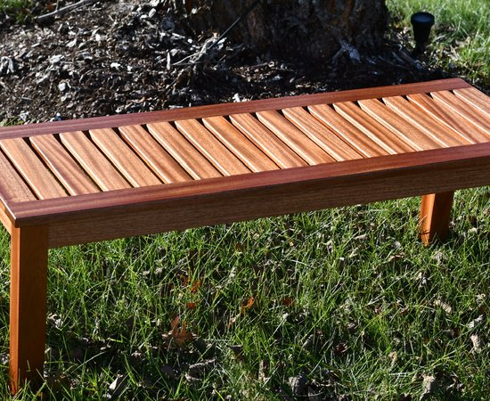 Mahogany Sitting Bench