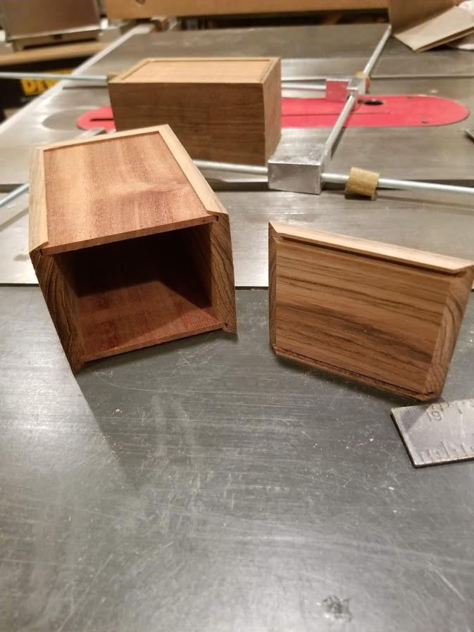 Photo of Teak, Maple and Mahogany Orpheus Music/Jewelry Box