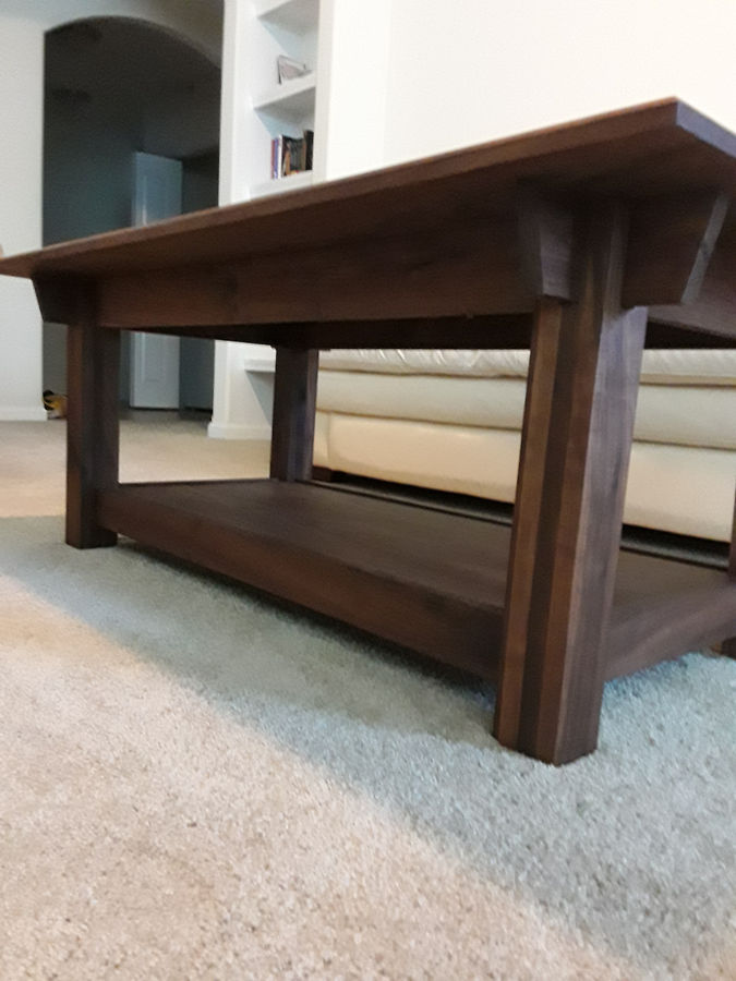 Photo of Walnut coffe table with Peruvian walnut accents