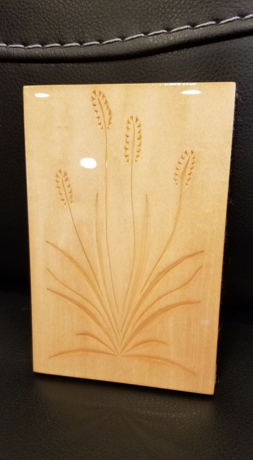 Photo of Wayne Barton Inspired Chip Carving Cattail