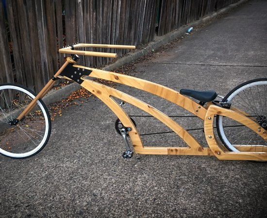 Badass Handmade Wooden Chopper Bike