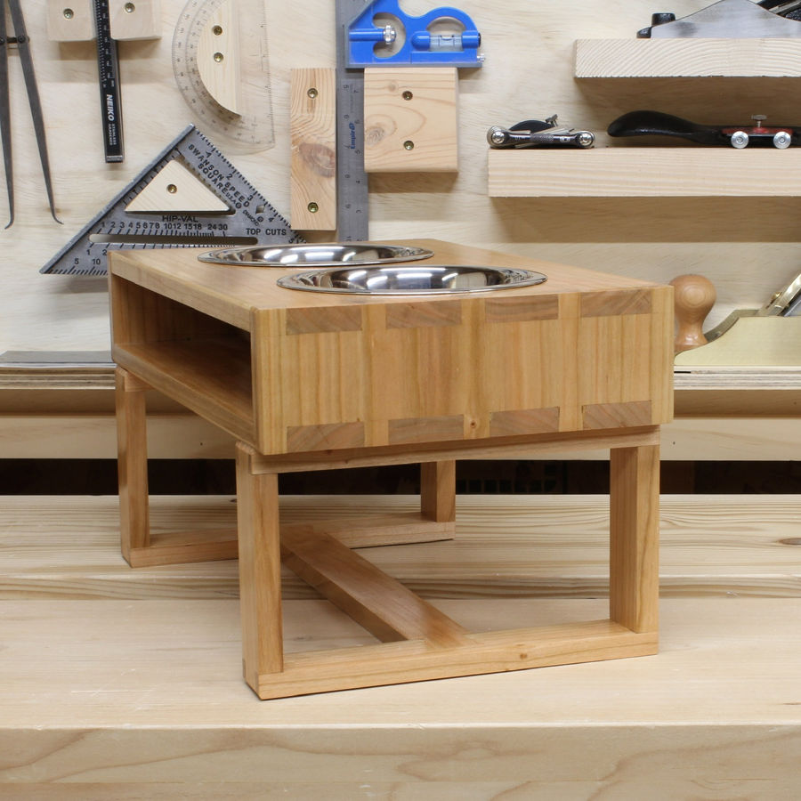 Photo of Case on stand dovetailed dog feeder