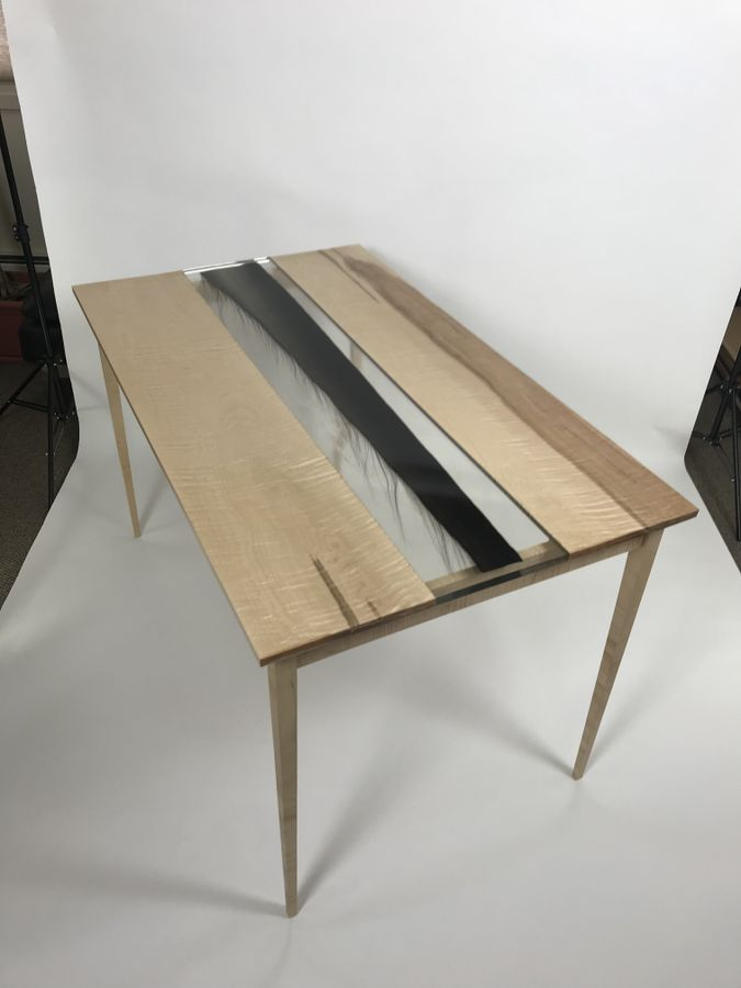 Photo of Bowhead Whale Baleen And Curly Maple Table