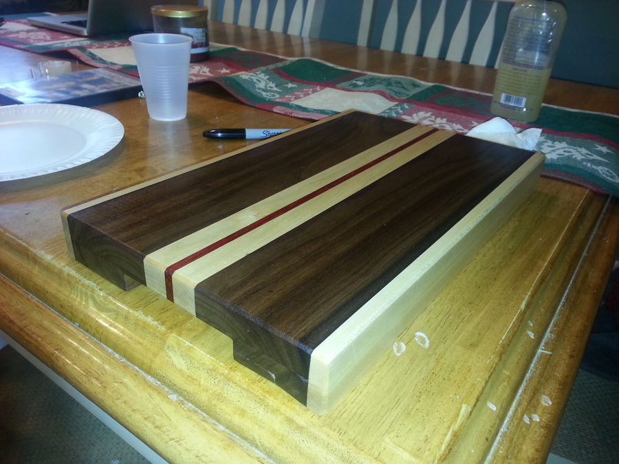 Photo of Yet Another Cutting Board (Walnut, Maple, Padouk)