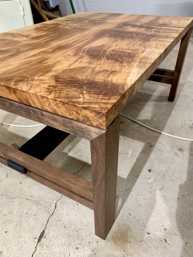 Photo of Modern Maple and Walnut Coffee Table