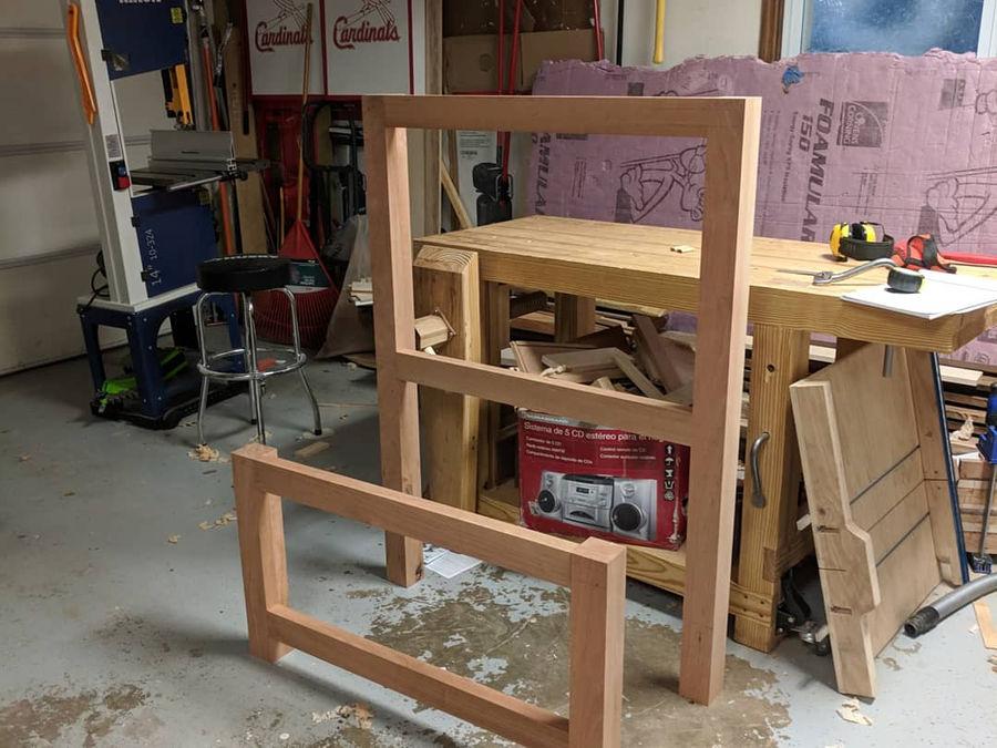 Photo of Walnut and cherry storage bed