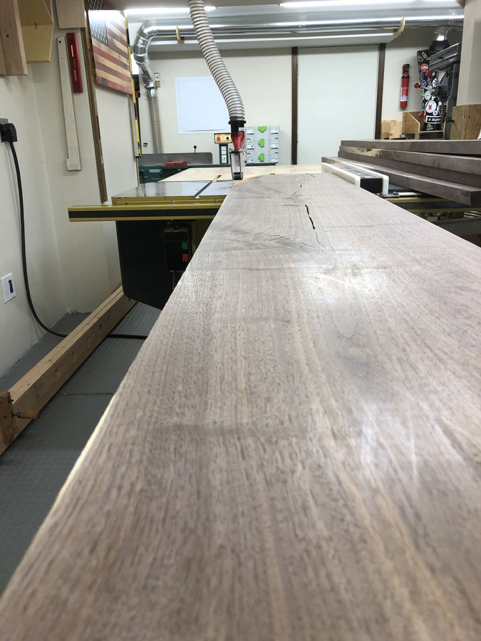 Photo of Live edge Black Walnut dining table