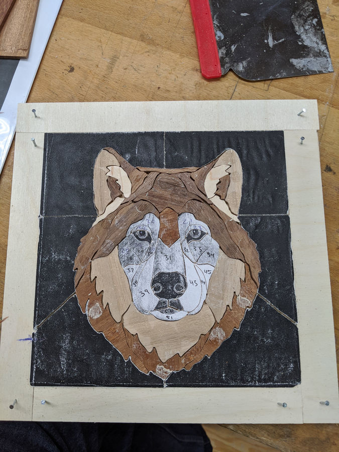 Photo of Marquetry Wolf